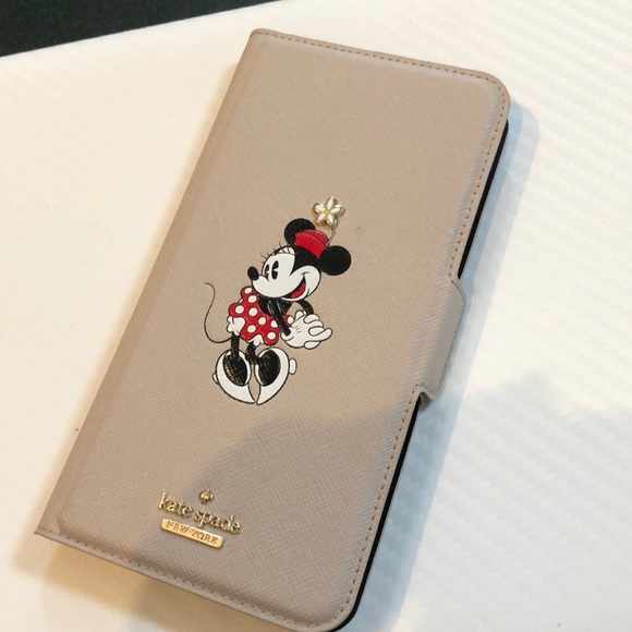 sports shoes 0f409 49ef8 Kate Spade iPhone 8 Plus wallet case Minnie Mouse